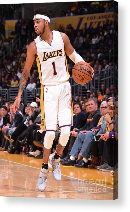 Nba Pro Basketball Acrylic Print featuring the photograph D'angelo Russell by Andrew D. Bernstein