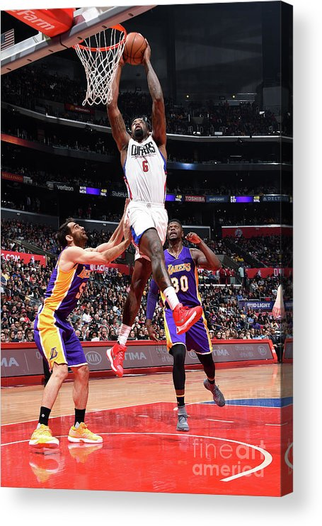 Nba Pro Basketball Acrylic Print featuring the photograph Deandre Jordan by Andrew D. Bernstein