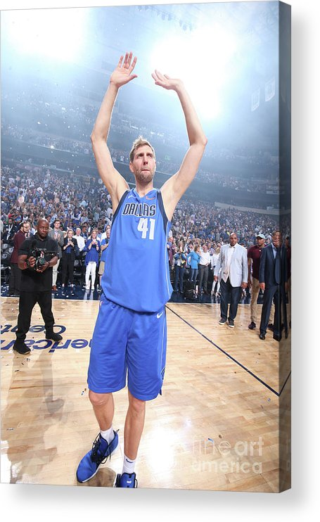 Crowd Acrylic Print featuring the photograph Dirk Nowitzki by Nathaniel S. Butler