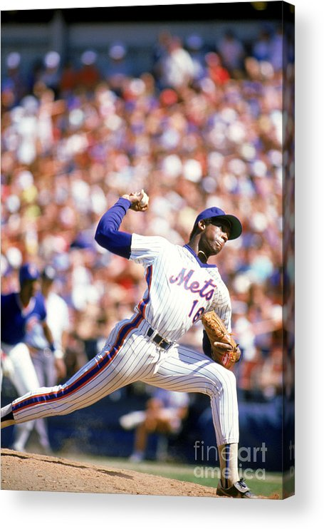Dwight Gooden Acrylic Print featuring the photograph Dwight Gooden by Rich Pilling