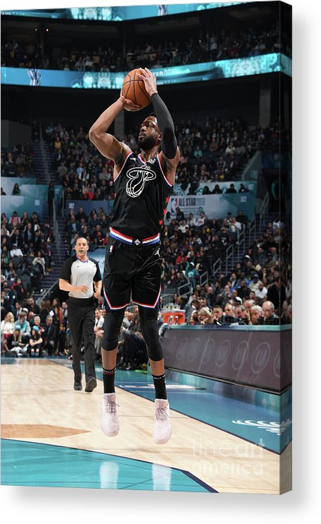 Nba Pro Basketball Acrylic Print featuring the photograph Dwyane Wade by Andrew D. Bernstein