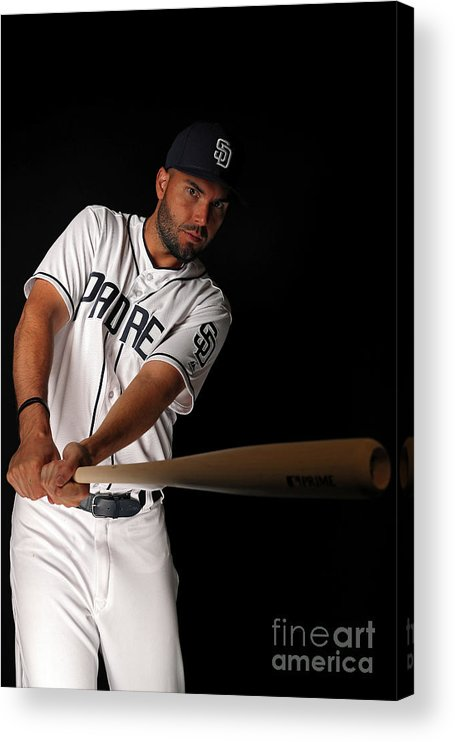 Media Day Acrylic Print featuring the photograph Eric Hosmer by Patrick Smith