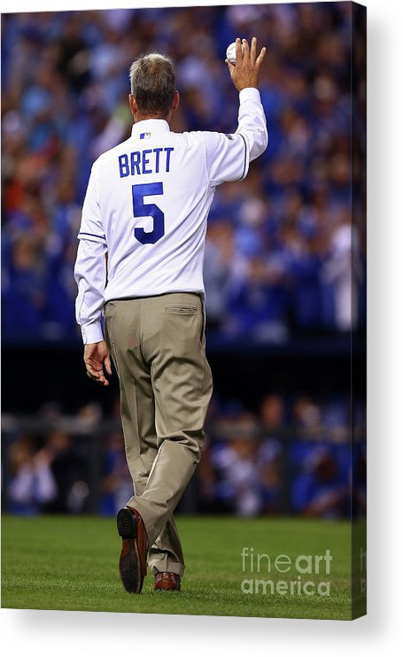 Game Two Acrylic Print featuring the photograph George Brett by Elsa