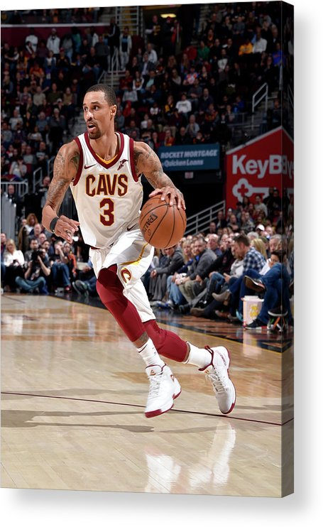 Sports Ball Acrylic Print featuring the photograph George Hill by David Liam Kyle