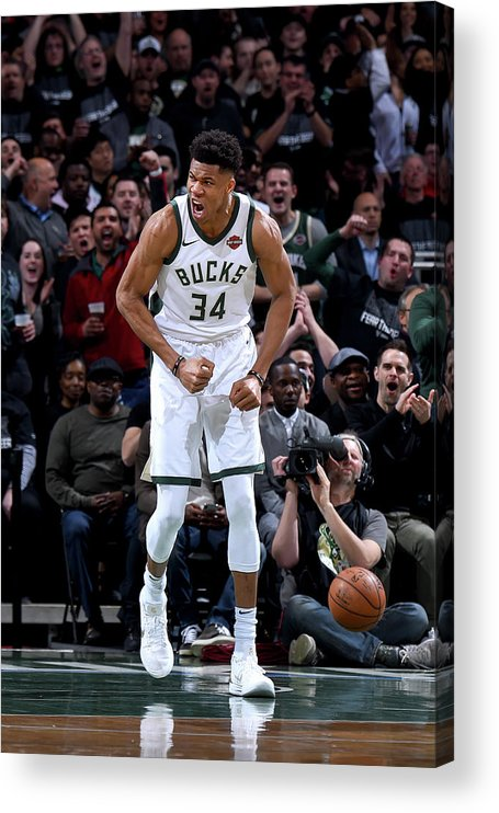 Playoffs Acrylic Print featuring the photograph Giannis Antetokounmpo by Brian Babineau