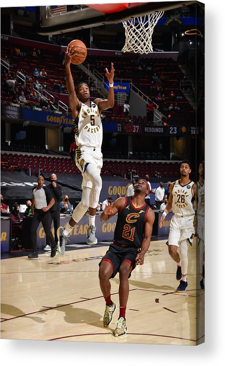 Nba Pro Basketball Acrylic Print featuring the photograph Indiana Pacers v Cleveland Cavaliers by David Liam Kyle
