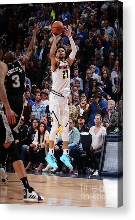 Playoffs Acrylic Print featuring the photograph Jamal Murray by Bart Young
