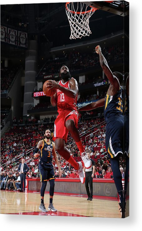 Nba Pro Basketball Acrylic Print featuring the photograph James Harden by Layne Murdoch