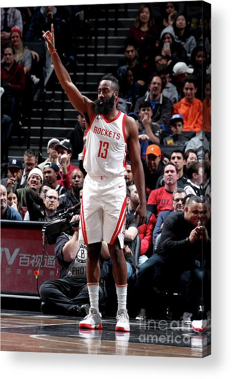 Crowd Acrylic Print featuring the photograph James Harden by Nathaniel S. Butler
