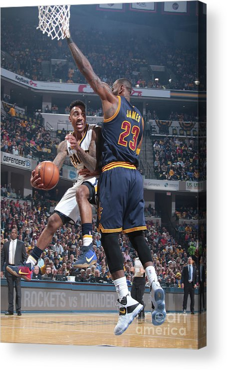 Playoffs Acrylic Print featuring the photograph Jeff Teague by Ron Hoskins