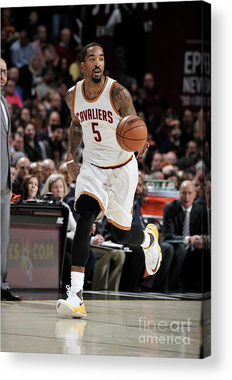 Nba Pro Basketball Acrylic Print featuring the photograph J.r. Smith by David Liam Kyle