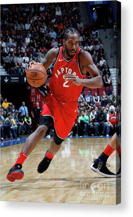 Nba Pro Basketball Acrylic Print featuring the photograph Kawhi Leonard by Mark Blinch