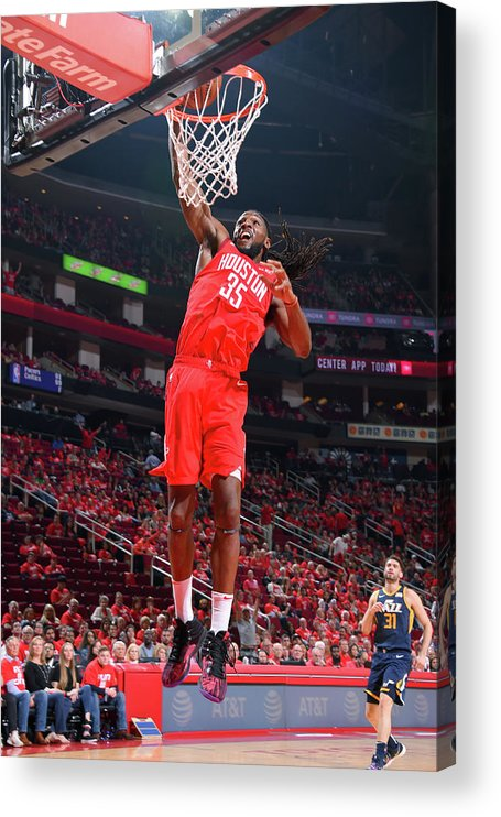 Playoffs Acrylic Print featuring the photograph Kenneth Faried by Bill Baptist