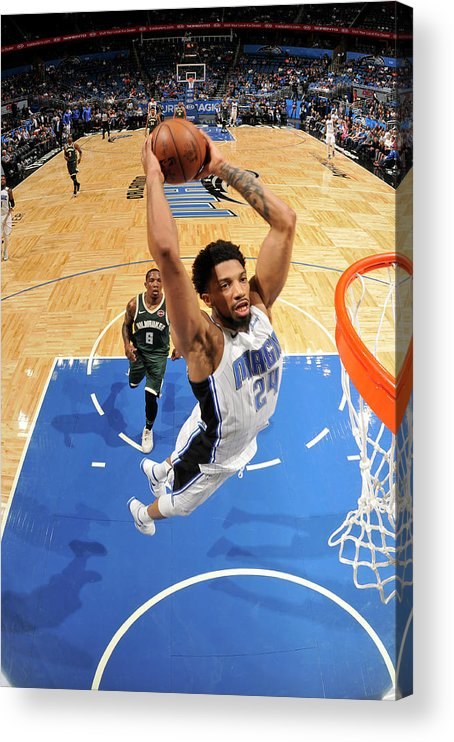 Nba Pro Basketball Acrylic Print featuring the photograph Khem Birch by Fernando Medina