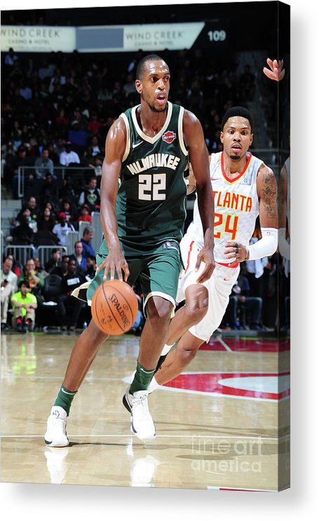 Sport Acrylic Print featuring the photograph Khris Middleton by Scott Cunningham