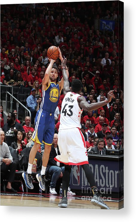 Playoffs Acrylic Print featuring the photograph Klay Thompson by Nathaniel S. Butler