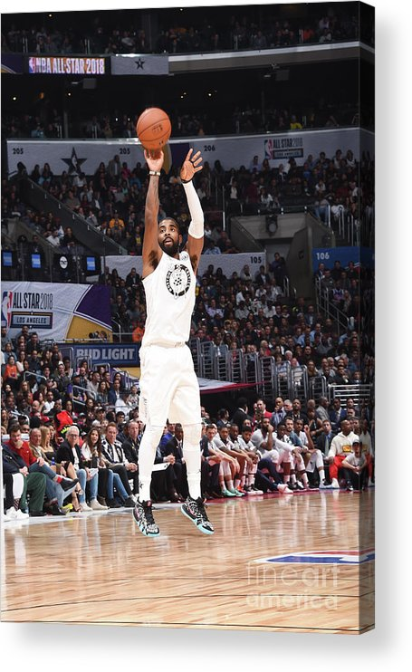 Nba Pro Basketball Acrylic Print featuring the photograph Kyrie Irving by Andrew D. Bernstein