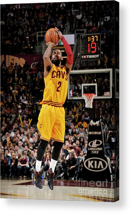 Nba Pro Basketball Acrylic Print featuring the photograph Kyrie Irving by David Liam Kyle
