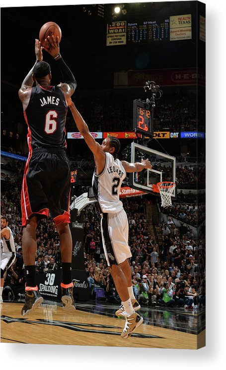 Playoffs Acrylic Print featuring the photograph Lebron James by Jesse D. Garrabrant
