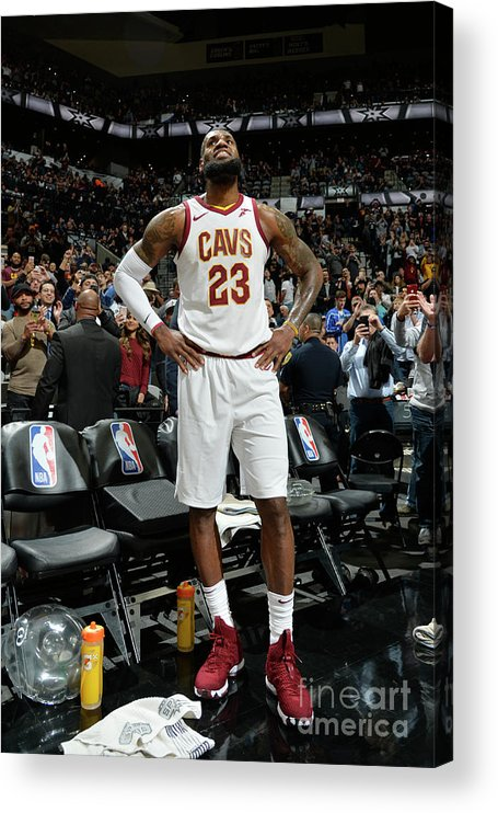 Nba Pro Basketball Acrylic Print featuring the photograph Lebron James by Mark Sobhani