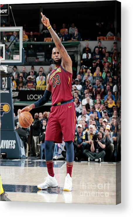 Playoffs Acrylic Print featuring the photograph Lebron James by Ron Hoskins