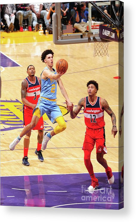 Nba Pro Basketball Acrylic Print featuring the photograph Lonzo Ball by Andrew D. Bernstein