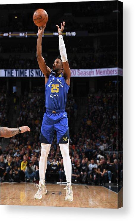Playoffs Acrylic Print featuring the photograph Malik Beasley by Garrett Ellwood