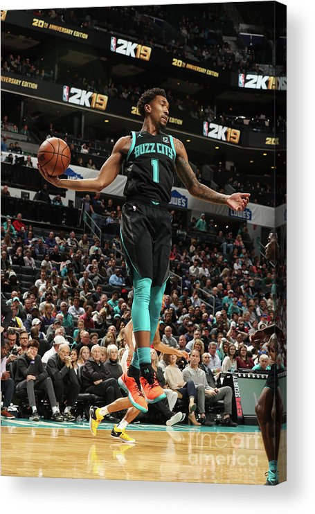 Nba Pro Basketball Acrylic Print featuring the photograph Malik Monk by Kent Smith