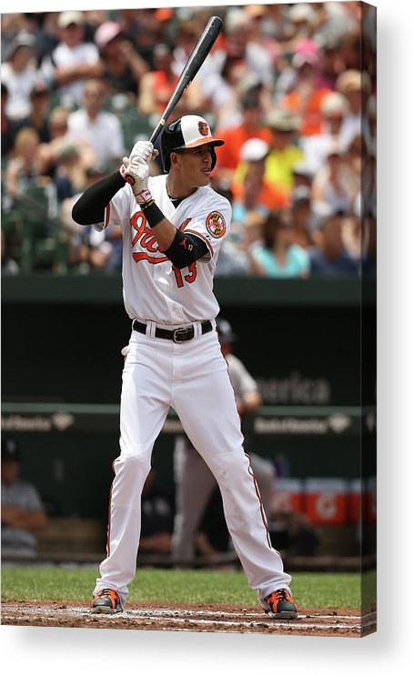 People Acrylic Print featuring the photograph Manny Machado by Patrick Smith