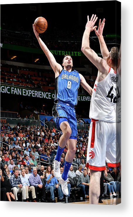 Nba Pro Basketball Acrylic Print featuring the photograph Mario Hezonja by Fernando Medina