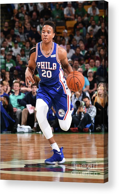 Nba Pro Basketball Acrylic Print featuring the photograph Markelle Fultz by Brian Babineau