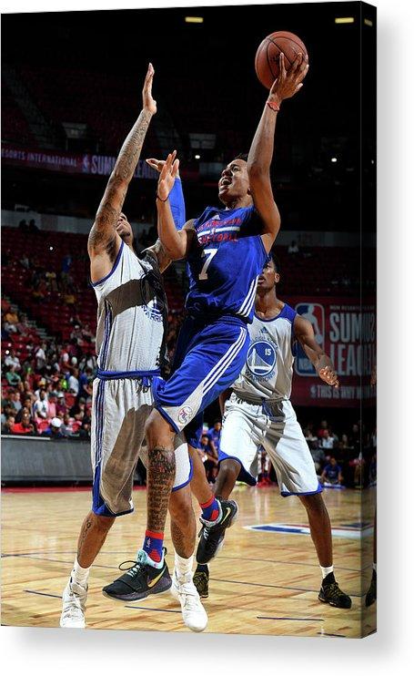 Nba Pro Basketball Acrylic Print featuring the photograph Markelle Fultz by Garrett Ellwood