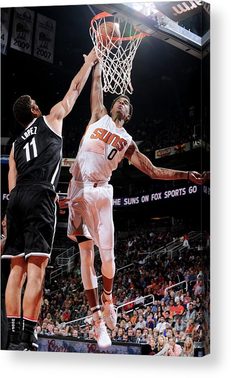 Nba Pro Basketball Acrylic Print featuring the photograph Marquese Chriss by Barry Gossage