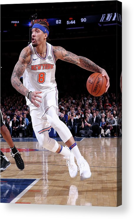 Michael Beasley Acrylic Print featuring the photograph Michael Beasley by Nathaniel S. Butler