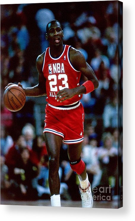 1980-1989 Acrylic Print featuring the photograph Michael Jordan by Andrew D. Bernstein