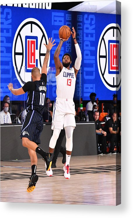 Nba Pro Basketball Acrylic Print featuring the photograph Paul George by Jesse D. Garrabrant