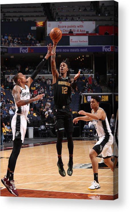 Nba Pro Basketball Acrylic Print featuring the photograph Play-In Tournament - San Antonio Spurs v Memphis Grizzlies by Joe Murphy