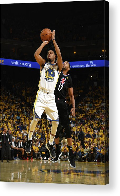 Playoffs Acrylic Print featuring the photograph Quinn Cook by Noah Graham