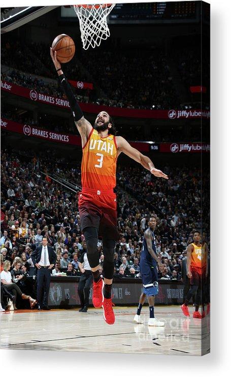 Nba Pro Basketball Acrylic Print featuring the photograph Ricky Rubio by Melissa Majchrzak