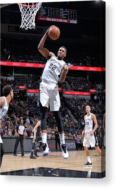 Nba Pro Basketball Acrylic Print featuring the photograph Rudy Gay by Mark Sobhani