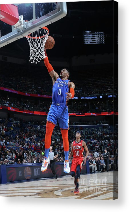 Smoothie King Center Acrylic Print featuring the photograph Russell Westbrook by Layne Murdoch Jr.