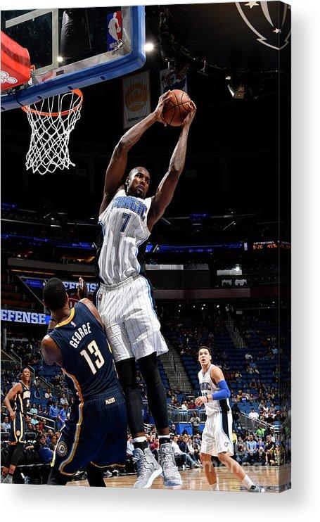 Nba Pro Basketball Acrylic Print featuring the photograph Serge Ibaka by Fernando Medina