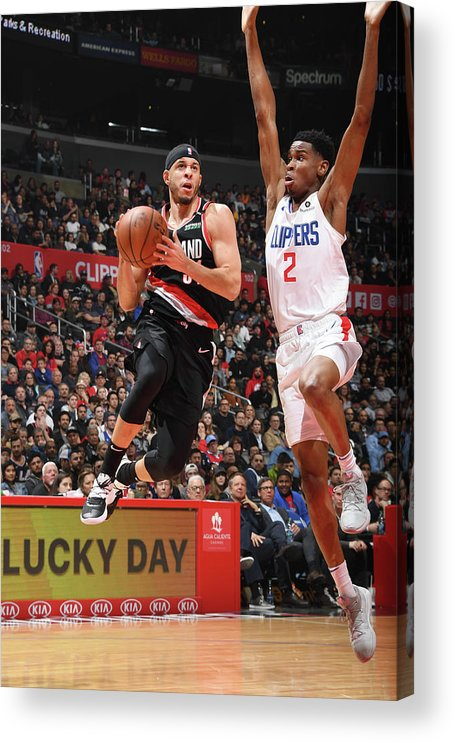 Nba Pro Basketball Acrylic Print featuring the photograph Seth Curry by Andrew D. Bernstein