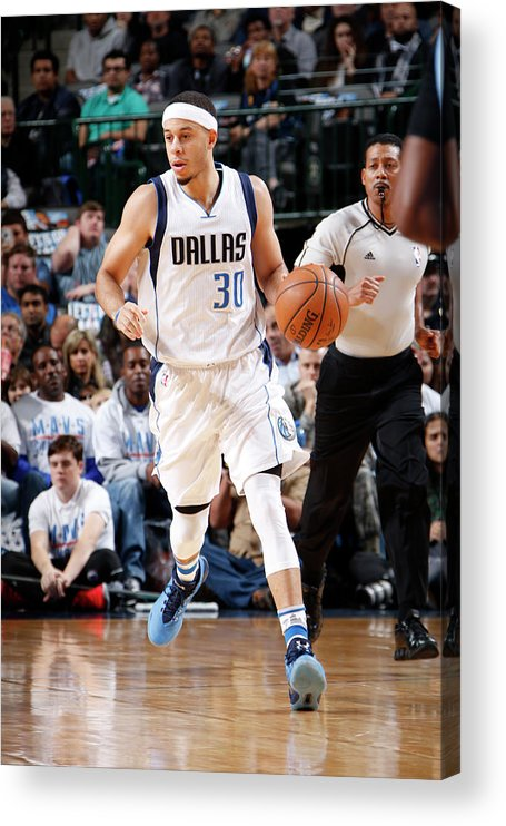 Nba Pro Basketball Acrylic Print featuring the photograph Seth Curry by Glenn James