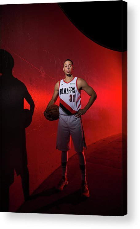 Media Day Acrylic Print featuring the photograph Seth Curry by Sam Forencich