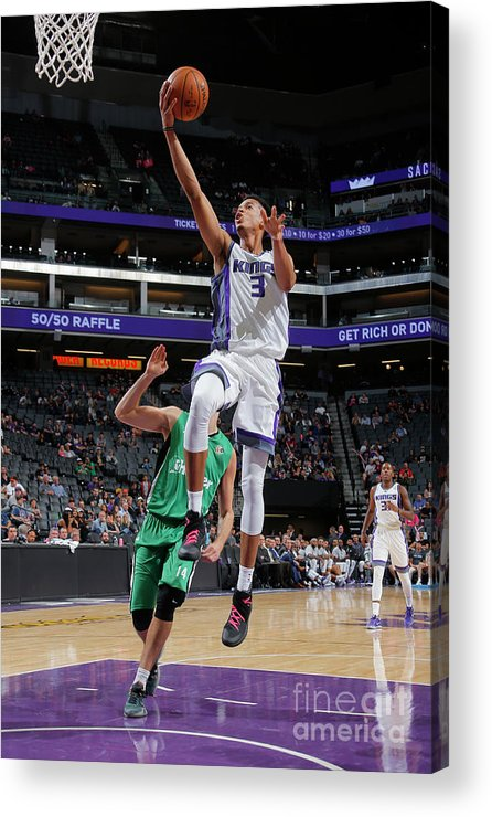 Maccabi Haifa Acrylic Print featuring the photograph Skal Labissiere by Rocky Widner