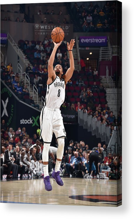 Nba Pro Basketball Acrylic Print featuring the photograph Spencer Dinwiddie by David Liam Kyle