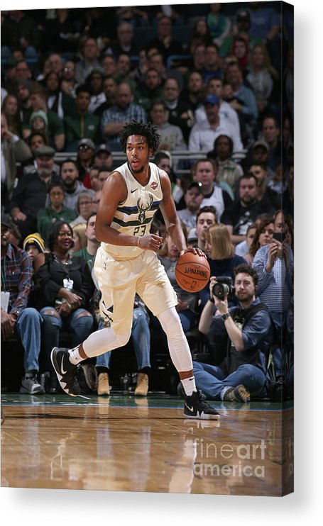 Nba Pro Basketball Acrylic Print featuring the photograph Sterling Brown by Gary Dineen