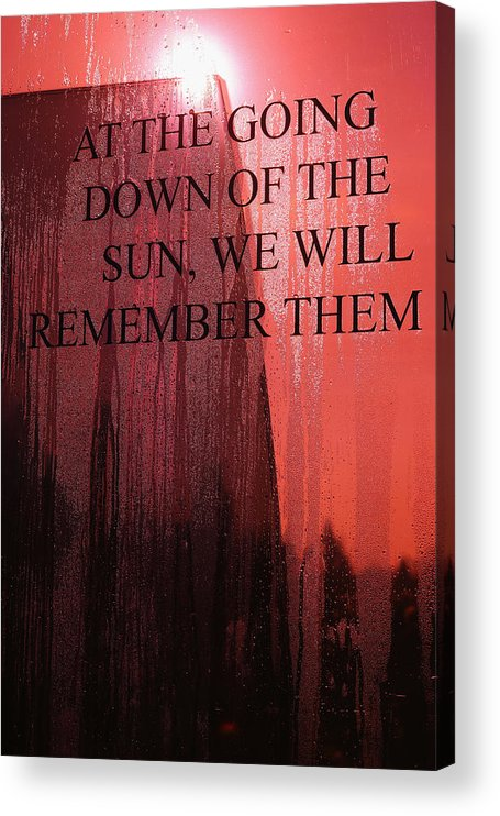 People Acrylic Print featuring the photograph The UK Observes Remembrance Sunday by Christopher Furlong