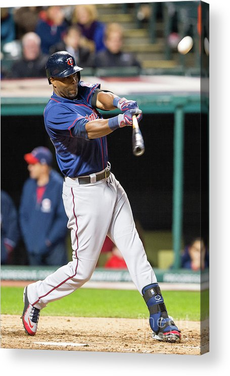 Game Two Acrylic Print featuring the photograph Torii Hunter by Jason Miller